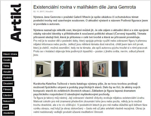 interview about weird figuration exhibiton
