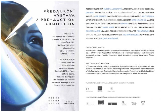 pre auction exhibiton foundation via